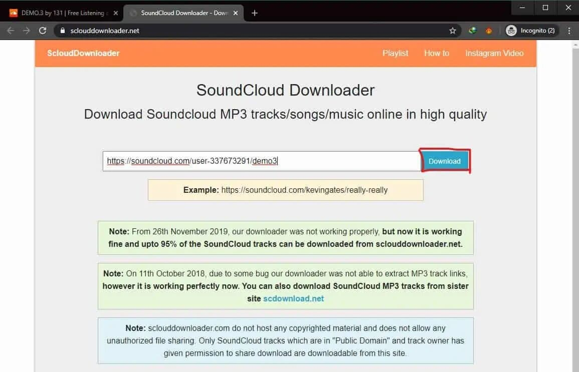 download entire soundcloud playlist at once