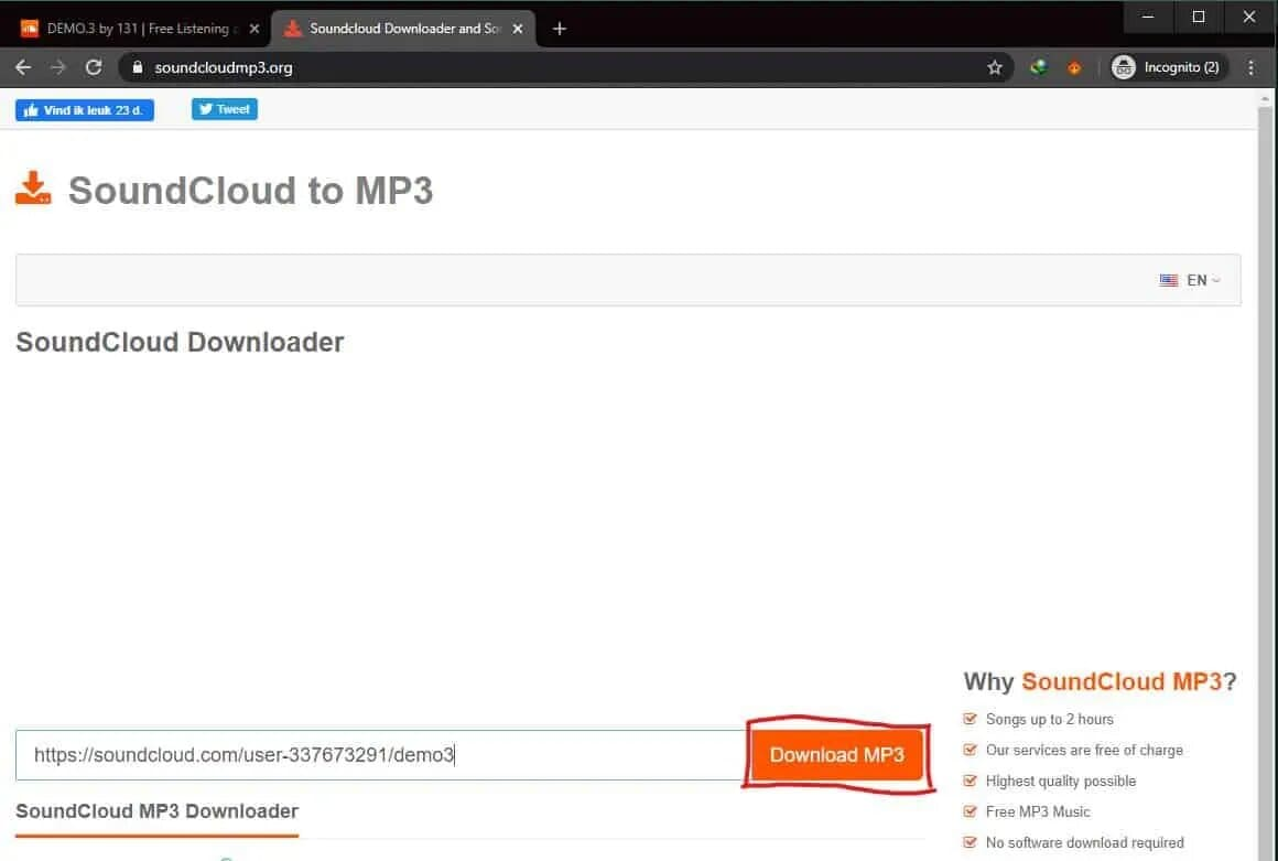 how to download soundcloud without app store