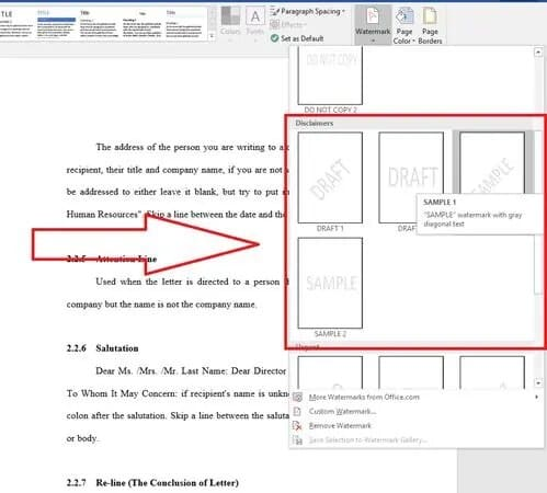 how to create a watermark in excel