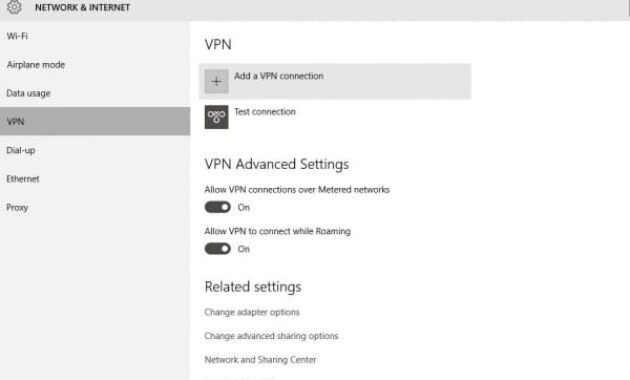 how to setup vpn on windows 10