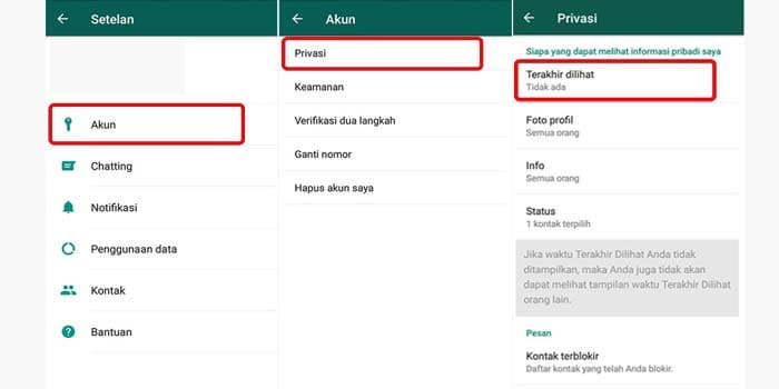 how to turn off last seen on WhatsApp android