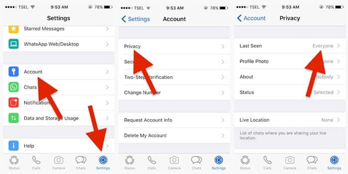 how to turn off last seen on WhatsApp iPhone