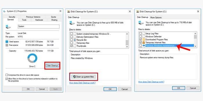 how to delete windows folder