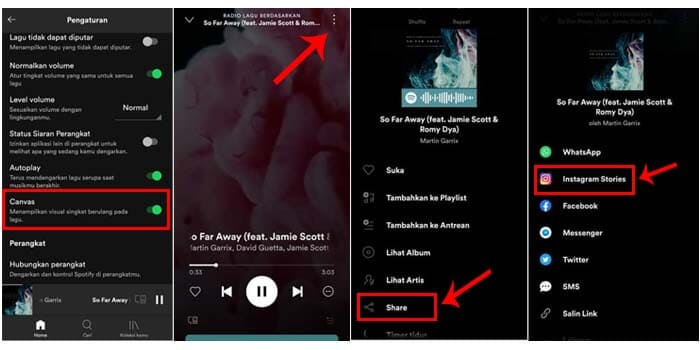 how to share spotify on instagram story with background