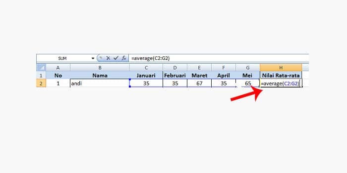 how to calculate daily average in excel