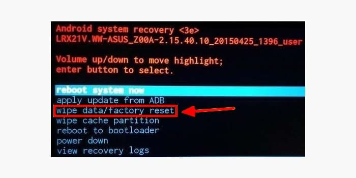 how to factory reset android without password