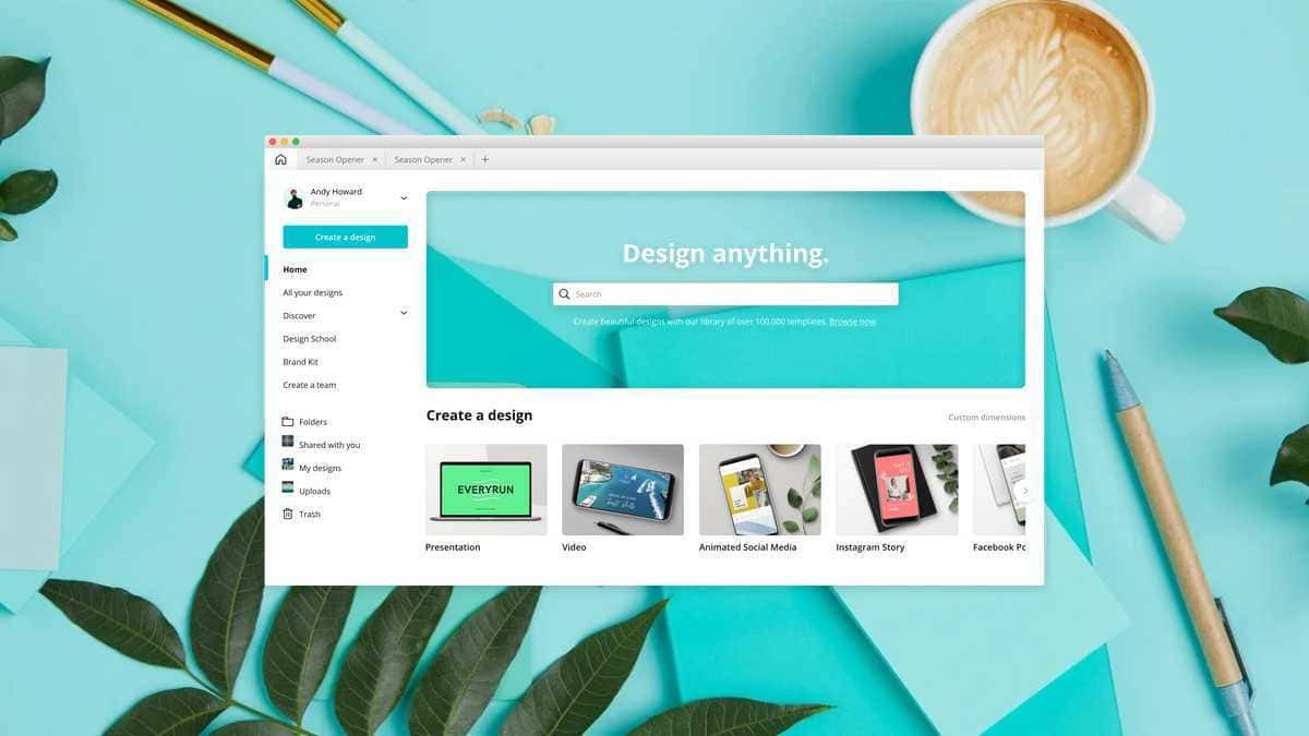 How to Create Logo and Invitation With Canva