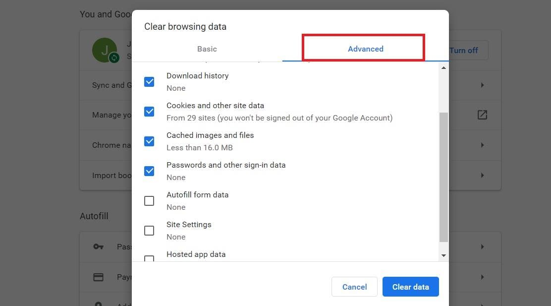 how to delete google search bar history