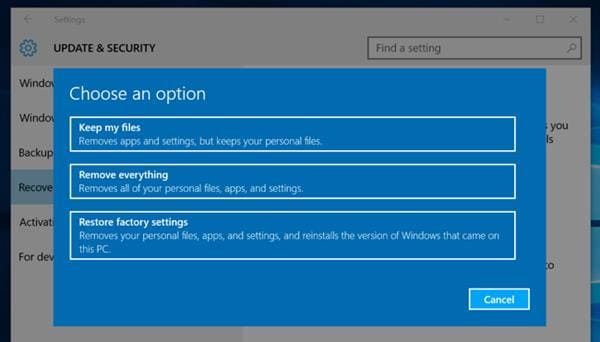 how to reinstall windows 10 without cd