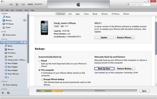 how to backup iPhone without iCloud