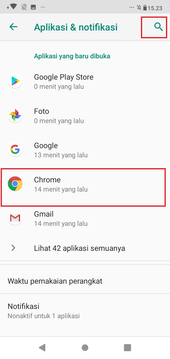 turn off google notifications android
