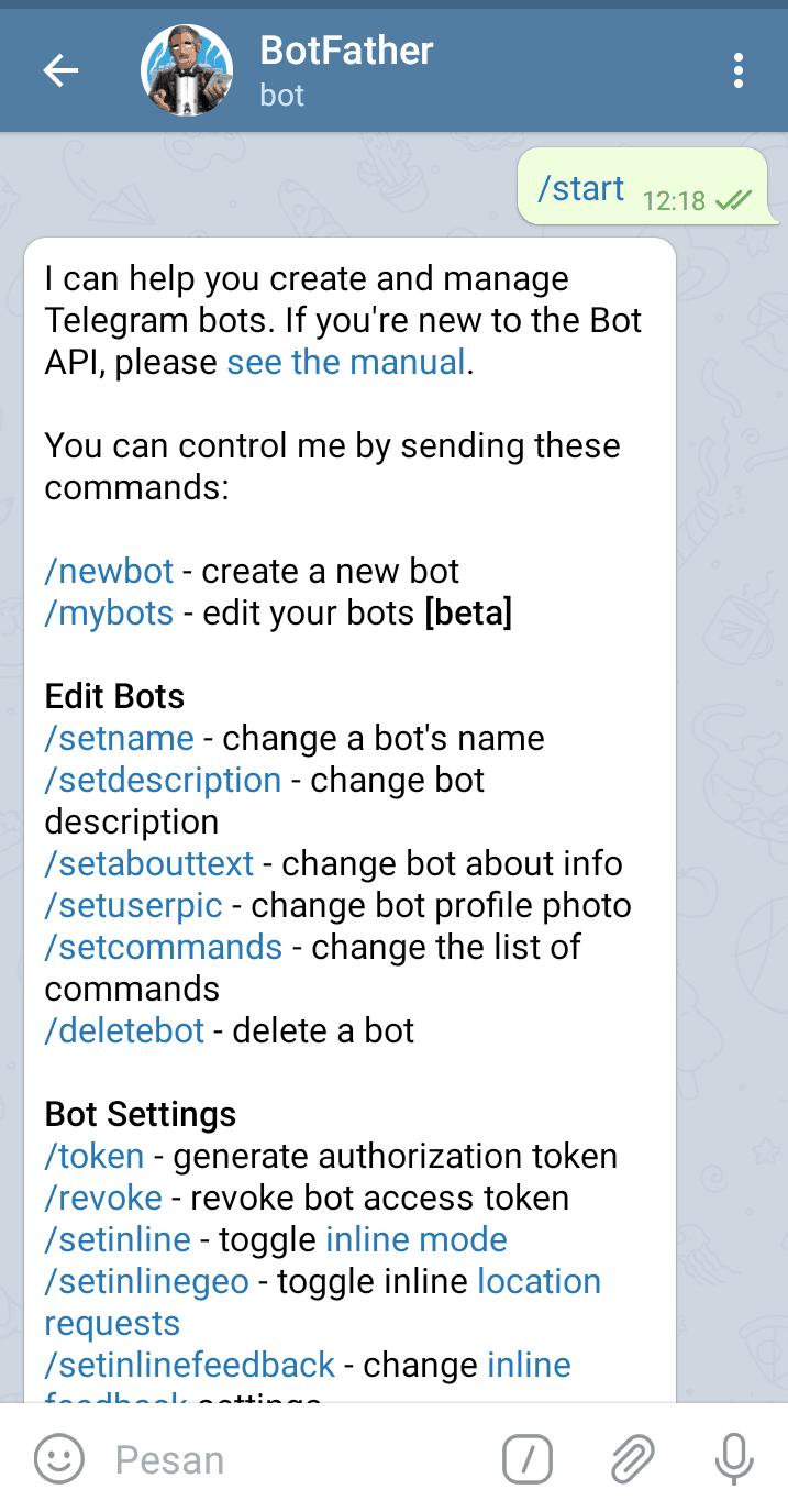 how to make telegram bot python
