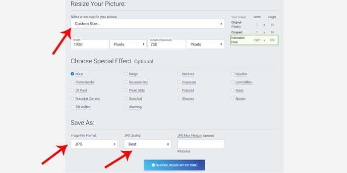 increase photo resolution online