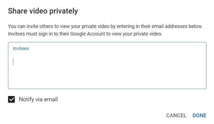 youtube private video