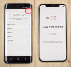 how to transfer data from android to iphone 7