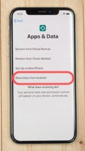 transfer data from android to iphone using pc