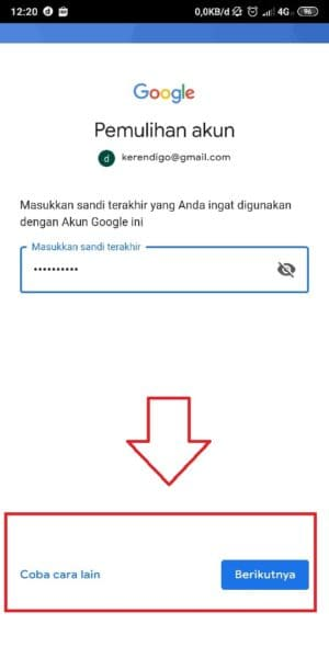 recover my gmail password via sms