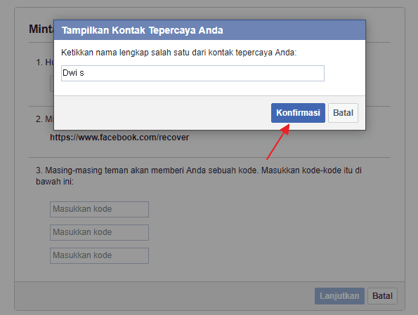 change facebook password without old password