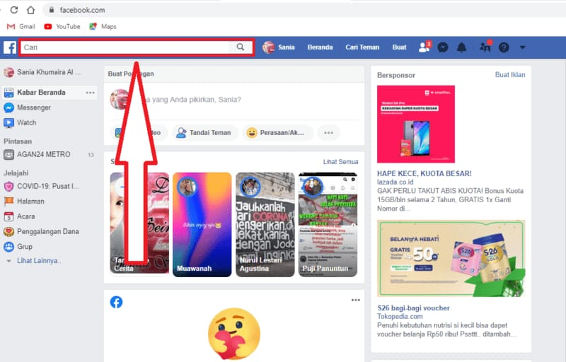how to clear search history on facebook desktop