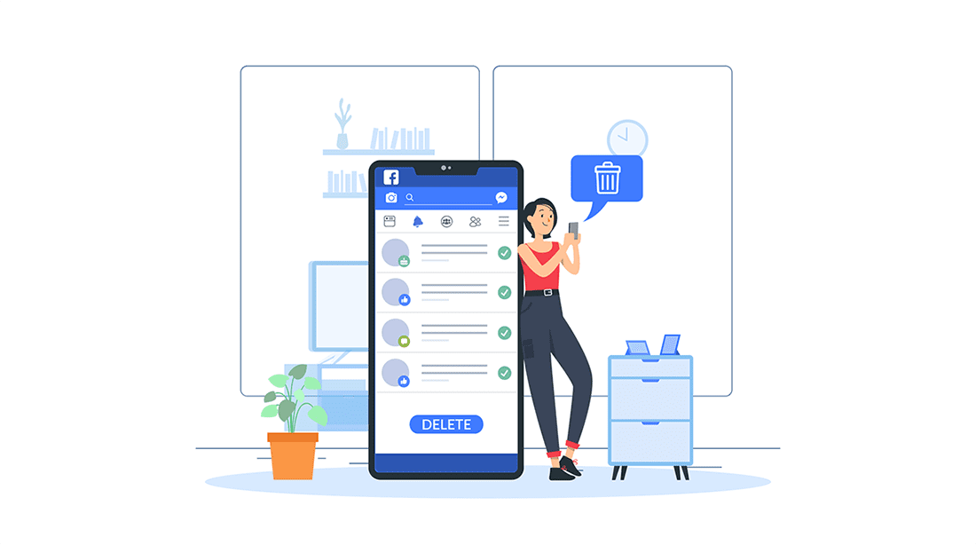 how to delete search history on facebook app
