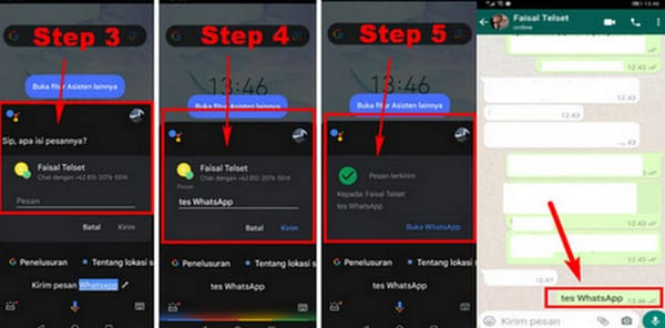 how to send messages in whatsapp without typing