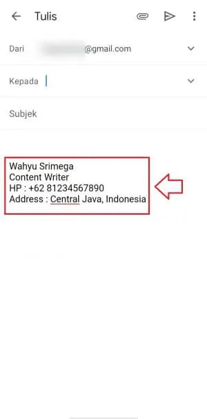 gmail signature not showing