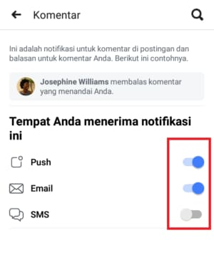 how to turn off facebook notifications for a specific person